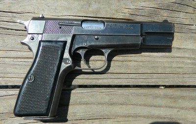 A family member found this well worn High Power at GunsAmerica and it fit his budget. It feeds, fires and functions and will serve well as a personal defense handgun.