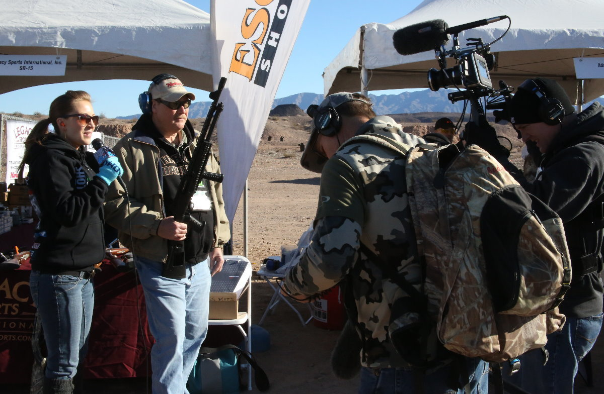 Need an Escort? Try out the Gladius 20 Gauge Home Defense Shotgun from Legacy—Media Day at the Range—SHOT Show 2014