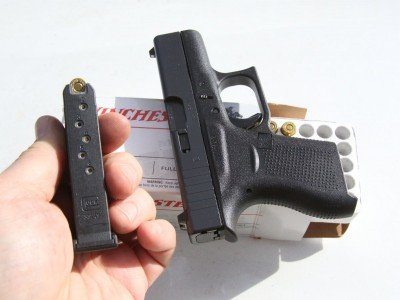 The six-round magazine is easy to load, and our test gun came with two.