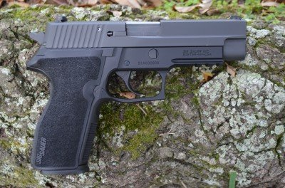 The new P227 is a step up in size from the P220.