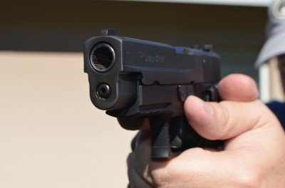 The P227 has a full-size frame with integrated equipment rail for a light or laser.