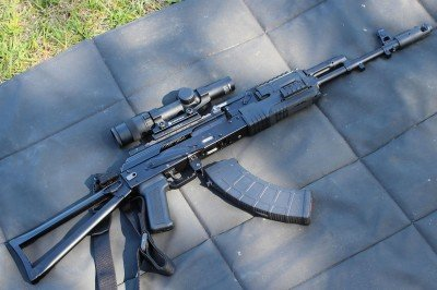 The Arsenal AK line in 7.62x39, with the right soft point ammo, can be an effective rifle for hunting.