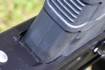 The Magpul PMAG 30 AK fits snuggly in the mag well and has no wobble.