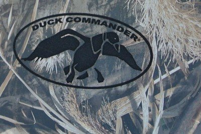 The Duck Commander logo on the stock. Also note the detail of the Max-5. The shadows are pretty impressive.
