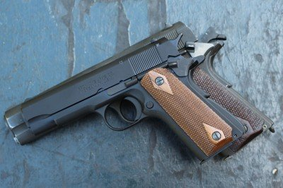 The full sized 1911 and the Compact. When placed together like this, it makes the reduction in size look almost insignificant.