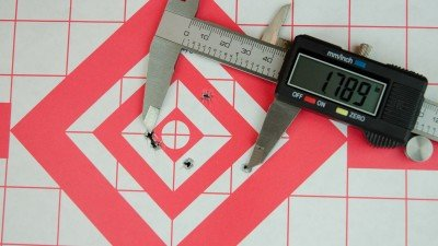 Best 25 yard group was produced by CCI Mini-Mag, but is still a wide spread.
