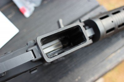 The mag well has a subtle flare. We tried all of our typical AR mags in the P556 and had no magazine-related issues at all.