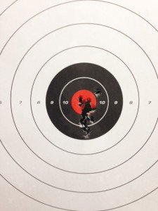 The writer was able to get back on target quickly when shooting rapid fire.