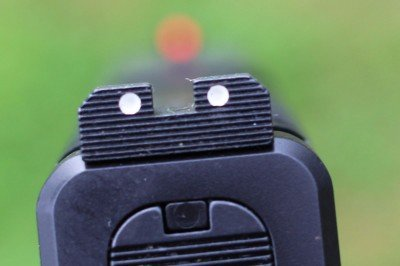 Finding the sight picture on the XD-S is easy, and the added length provides a bit more length in the sight radius.