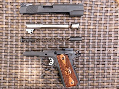 The Range Officer easily field strips like any other 1911.