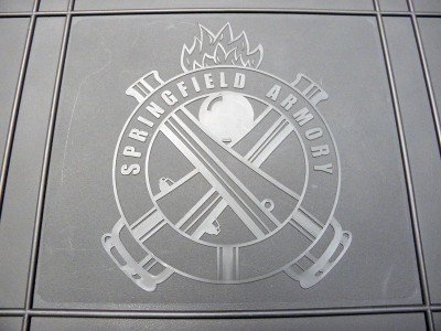 The top of the case is embossed with the Springfield Armory logo.