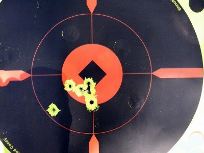 Offhand at seven yards.