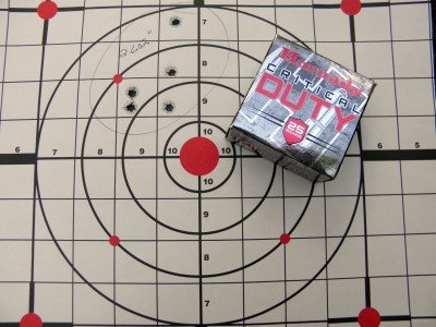 Hornady's Critical Duty held its own with a 135 grain bullet.