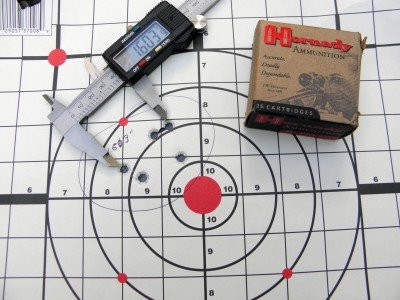 The Hornady Custom produced some nice groups from 10 yards.