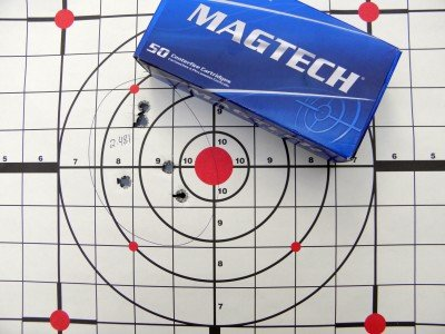 The MagTech groups didn't open up much compared to the premium brands. The Range Officer, it seems, shoots everything well.