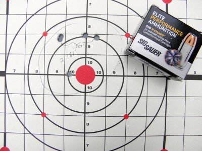 I liked the new Sig ammo. Groups were consistent, especially if you took out my occasional flier.