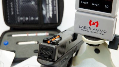 Laser Ammo products tested include LaserPET target, SureStrike laser system and Glock TJ Sight.