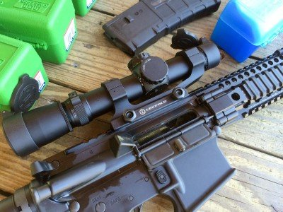 Accuracy testing was done using a Leupold Mark 4 MR/T 1.5-5x20mm 300 Blackout scope.