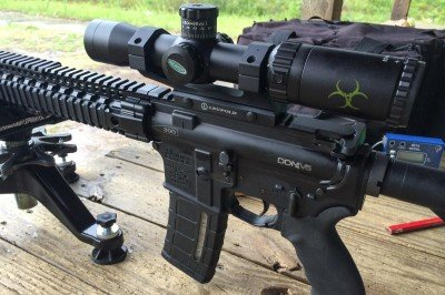 We'll be looking at scopes in detail in a future article, but one fun option was this Weaver KASPA with CIRT reticle.