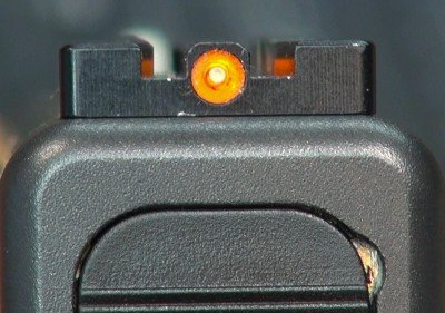 As tested, the TJ sight includes a Tritium center dot for visibility in darkness.