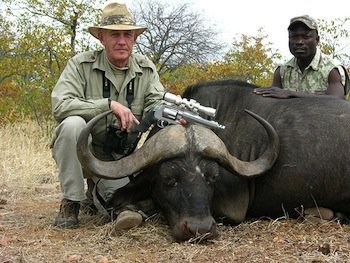Mecalf -- an avid hunter, competitive shooter, prolific writer and Second Amendment historian -- hunting African buffalo.  (Photo: Politico)