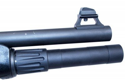 The Nordic Components extension just barely extends past the muzzle.
