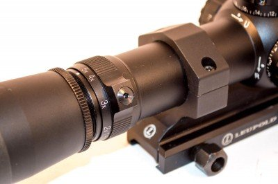 The Leupold offers 1.5x to 5x magnification.