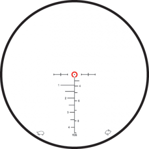 Leupold takes a different approach with the reticle: subsonic on the left and supersonic on the right.