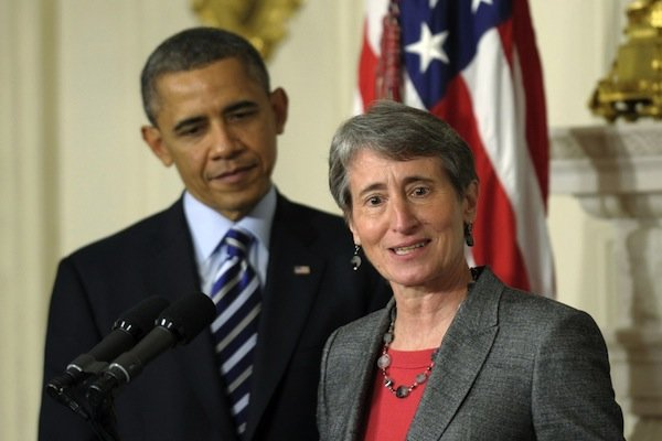 Interior secretary Sally Jewel with president Obama.  (Photo: NJ Today)