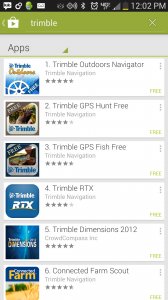 If you search for Trimble in your Android app store, lots of apps come up.