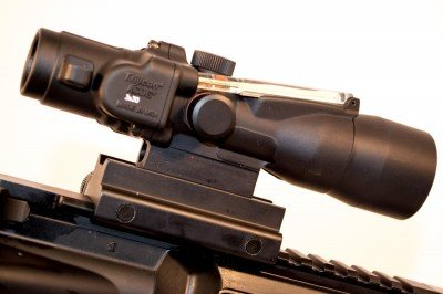 The Trijicon 300 Blackout offering is lower profile than classic Trijicon designs.