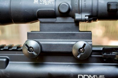 The Trijicon includes a built-in rail mount.