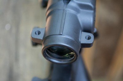 If you like, you can mount a small red dot for close range targeting.