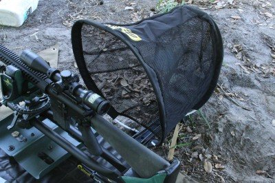 The mouth of the Caldwell Brass Trap is nice and wide so it can be a little ways away and still catch erratic ejection.