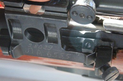 This is a closeup on the special PU mount. Some are numbered to the gun and others are not.