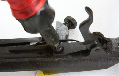 There is only one screw to remove, and the existing trigger comes right out.