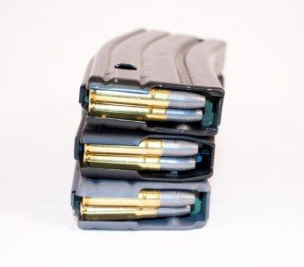 """Shown here are three different brands of magazines all loaded with the same """"fat ogive"""" 300 Blackout rounds. Notice how the will each feed a little differently?"""