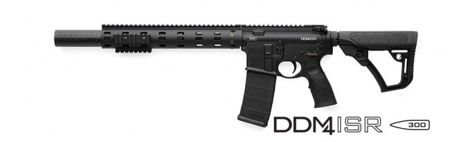 This Daniel Defense ISR has a short barrel, integrated silencer and a pistol length gas system.