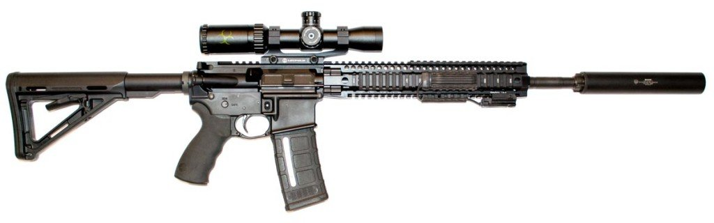 This Daniel Defense DDM4v5 300 Blackout has a 16-inch barrel - and a carbine length gas system.