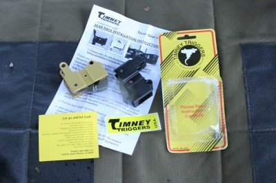 The Timney replacement sear group is identical to the part that comes out of the gun.