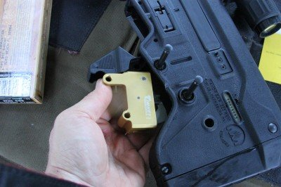 The Timey trigger group for the Tavor is so easy to install that it is obvious the Tavor was created with replacement trigger in mind.