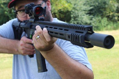 Having a long handguard doesn't prevent you from using a traditional blade stance, if that's what you are in to.