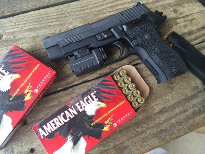 American Eagle 9mm 147 grain flat point ammo turned out to be a great solution for competition shooting with a 951 fps velocity from this gun.