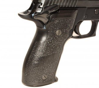 The two-piece grips are very similar in feel to the new E2 single-piece grips.