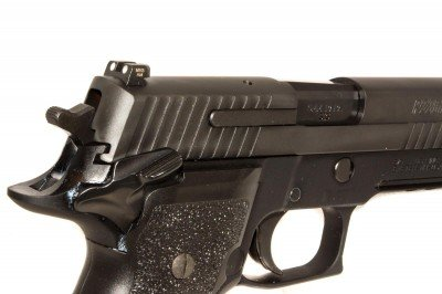 Note the profile of the rear sight. In a pinch, you can cock the slide by hooking it on a belt or sharp surface.
