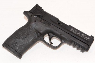 If you've seen the original M&P22, you'll notice the Smith & Wesson lettering is toned down on the new model.