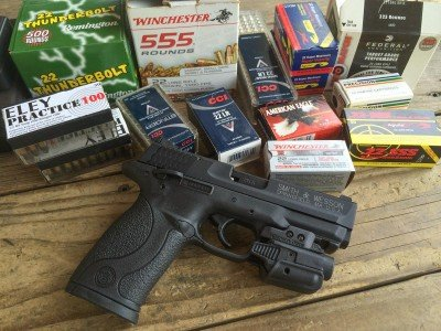 I tested the pistol with (12) different types of .22LR ammunition - a lot of it.