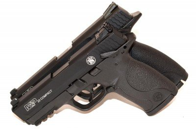 M&P22 original (back) and M&P22 Compact (front)