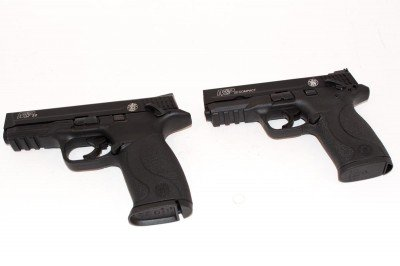 M&P22 (left) and M&P22 Compact (right)