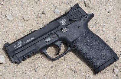 Hot off the press - the new Smith & Wesson M&P22 Compact. 87.5% scale of a full size M&P, it's a fun .22 plinker.